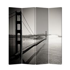 "Found it at AllModern - 71"" x 69"" Double Sided Painted Canvas 4 Panel Room Divider"