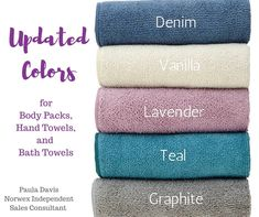 Norwex Bath Towels Magnificent Norwex Hand Towels And Bath Towels In New Colors For 2018  Denim Design Decoration