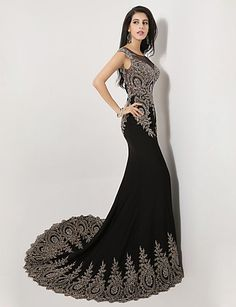 Vestido de Noche Sirena Fiesta Formal Negro @ Vestidos de Fiesta Baratos Blog