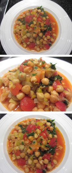 Chick Pea Stew  Hearty, quick, yummy and vegetarian.