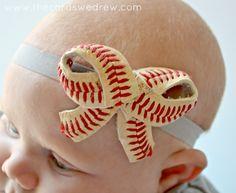Baseball Bow Headband from The Cards We Drew