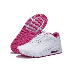 new products 30dc4 e5ceb Air Max 90 Blanc Rose Soldes