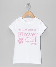 Loving this White 'Flower Girl' Tee - Toddler & Girls on #zulily! #zulilyfinds