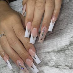 Bling Acrylic Nails, Simple Acrylic Nails, Best Acrylic Nails, Acrylic Nail Designs, Coffin Nails, Long Square Acrylic Nails, Glow Nails, Acylic Nails, Fire Nails