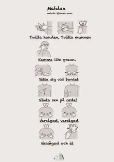 Tecken som stöd: Ny matramsa Kids Barn, Learn Swedish, Swedish Language, Sign Language, Teaching, Education, Life Hacks, Preschool, Chanel