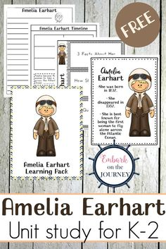 Got a student who loves aviation? Learning about Amelia Earhart this year? This Amelia Earhart unit study will perfect for your homeschool lesson plans. via @letsembark