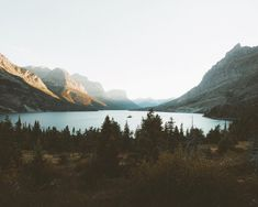 Wild goose island, glacier national park, Montana