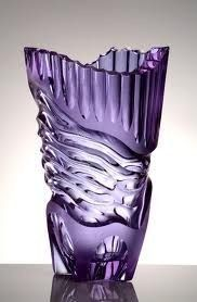 Purple Moser Glass - Czech Grand Design 2008 in the Museum of Applied Arts Purple Love, All Things Purple, Purple Glass, Shades Of Purple, Purple Stuff, Purple Lilac, Vase Cristal, Art Of Glass, Purple Reign