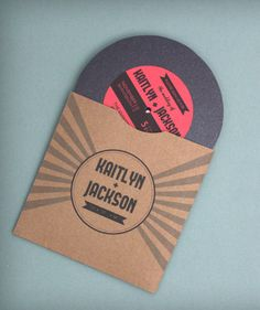 Just because themed weddings rock! This vinyl record wedding invitation complete with sleeve and record label couldn't be more perfect for the hipster couple. http://www.downloadandprint.com/templates/vinyl-record-wedding-invitation-template/
