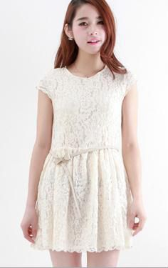 Korean Dress White Korean Fashion Dress, Korean Dress, Fashion Dresses, Lace Dress, White Dress, White Lace, Style Me, Mini Skirts, Doll
