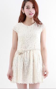 Korean Dress White