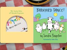 by Sandra Boynton; digital version of a classic board book. Great narration or turn narration off and read it yourself. For ages 5 and under. Barnyard Dance, The Barnyard, Dance Bows, Sandra Boynton, Farm Theme, Down On The Farm, Big Kids, Audio Books, Preschool