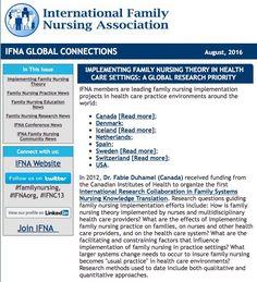 International Family Nursing Association August 2016 Newsletter | #familyhealth #familyhealing