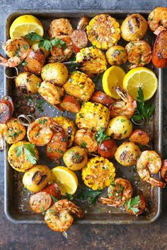 A classic shrimp boil is transformed into the tastiest kabobs yet! Can be grilled or baked and prepped in advance! Easy, right?