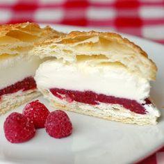 Raspberry Vanilla Ice Cream Puff Pastries