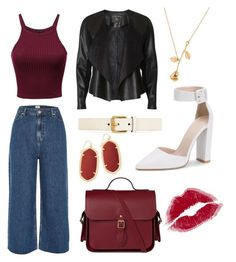 """Untitled #382"" by emmaboenneland ❤ liked on Polyvore featuring River Island, Dorothy Perkins, Gucci, Kendra Scott, denimtrend and widelegjeans"