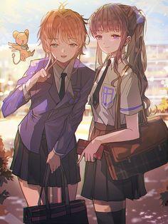 Kero, Sakura and Tomoyo from Card Captor Sakura Anime Best Friends, Friend Anime, Cardcaptor Sakura, Syaoran, Shugo Chara, Anime Art Girl, Manga Girl, Anime Chibi, Anime Manga