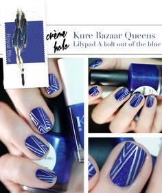 Pretty Painted Fingers & Toes Nail Polish| Serafini Amelia| Pantone Color Fashion Report Fall 2014 Royal Blue Nail art