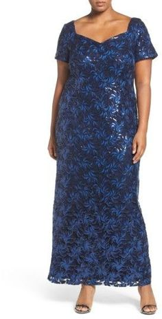 9abbd0bb78 Plus Size Women's Brianna Sequin Embroidered Sweetheart Gown Nordstrom  Dresses, Plus Size Maxi Dresses,
