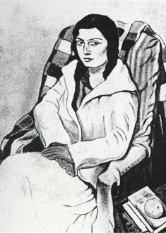 Portrait of My Sister (original State), 1923-1924  Salvador Dali