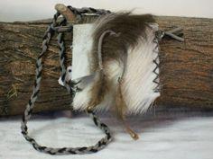 Handmade Leather Medicine Bag, Sage Pouch, Amulet, Stone , Herb