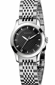 Gucci 'G Timeless' Stainless Steel Bracelet Watch available at #Nordstrom