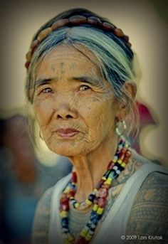 Apo Wang-od. Filipina master tattoo artist in Philippine and Pacific Isle tradition