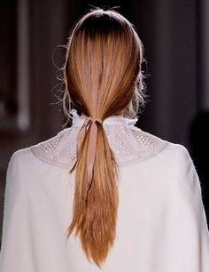 Valentino Low Slung Pony with Ribbon detail