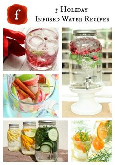 Five Holiday Flavored Infused Waters
