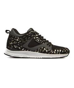 Look what I found on #zulily! Black & Dark Charcoal 35 Lite SP Suede Sneaker by Gourmet #zulilyfinds