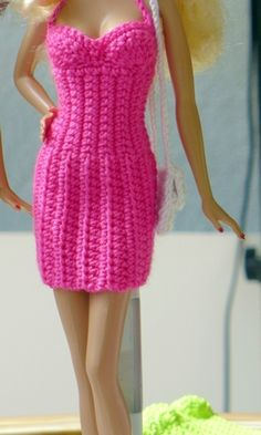 Irresistible Crochet a Doll Ideas. Radiant Crochet a Doll Ideas. Crochet Barbie Clothes, Doll Clothes Barbie, Barbie Dress, Barbie Knitting Patterns, Barbie Patterns, Crochet Patterns, Barbie Mode, Accessoires Barbie, Manequin