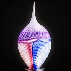 Fusion-Lightobject   hand made glassart glass glassblowing Olive Oil Bottles, Light Art, Glass Art, Vase, Handmade, Design, Home Decor, Hand Made, Decoration Home