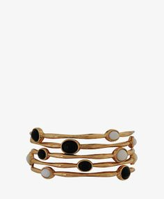 Contrast Oval Bangle Set | FOREVER21 - 1000043836