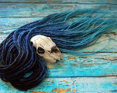 5 DE - 70 DE synthetic double ended dreads black blue