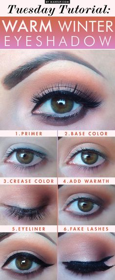 To offer some fall beauty inspiration, here's an eyeshadow tutorial with warm winter colors. Check out the step by step below, and see how to get the look yourself!