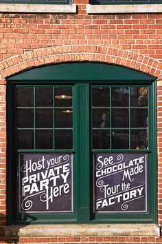 Gorgeous old-school style signage/typography :: Videri Chocolate Factory | Raleigh, NC