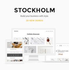 Stockholm - A Genuinely Multi-Concept WordPress Theme. Agency, ajax, blog, business, clean, design, elegant, fullscreen, modern, multi-purpose, photography, portfolio, shop, stylish, white