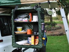 Hanging cupboard, great for hanging under rooftop tents and in tent trailers