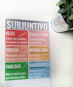 Usos del SUBJUNTIVO (descárgala en www.lapizdeele.com)