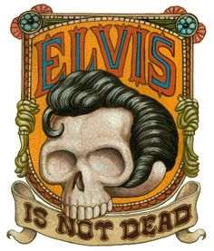 """Elvis Is Not Dead"", Marc Burckhardt Damien Hirst, Basquiat, Dutch Uncle, Illustrators, Skateboard, Lion Sculpture, Statue, Cool Stuff, Drawings"