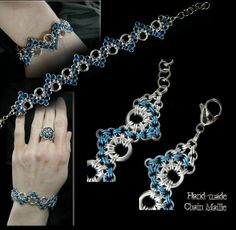 Chain Maille Patterns | How to make your own chainmail jewelry (bracelets, necklaces) for
