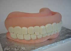 Dentures Funny Birthday Cake