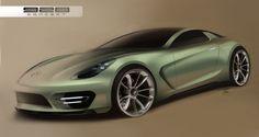 Alan Derosier - New Porsche 928 sketch