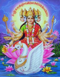 Gayatri Devi the Goddess Gayatri Devi the Goddess is considered the veda mata, Essentially, the Goddess is seen to combine all the phenomena...