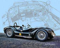 Masserati Tipo 61 Birdcage, looks classy