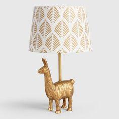 Gold Llama Accent Lamp Base - v4