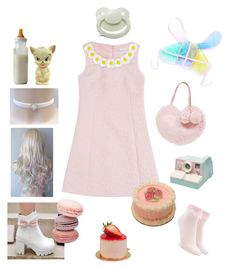 """""""Sweetie"""" by dazzling-pink-elaina ❤ liked on Polyvore featuring RED Valentino and Forever 21"""