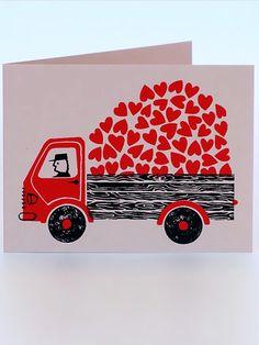 Lisa Jones Studio Love Truck Klappkarte