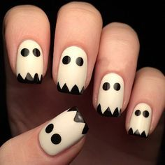 Are you looking for easy Halloween nail art designs for October for Halloween party? See our collection full of easy Halloween nail art designs ideas and get inspired! Halloween Acrylic Nails, Halloween Nail Designs, Easy Halloween Nails, Spooky Halloween, Halloween Ideas, Halloween Party, Halloween Makeup, White Nail Designs, Nail Art Designs