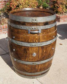 Wine Barrel Electric Smoker by winebarrelwoodcraft on Etsy, $650.00
